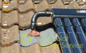 Profession solar pipe entry into roof