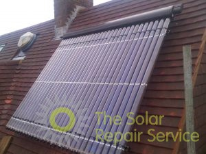 Solar panel replaced after re-roofing