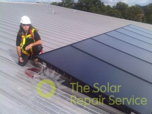 Solar water heating on a school in North London