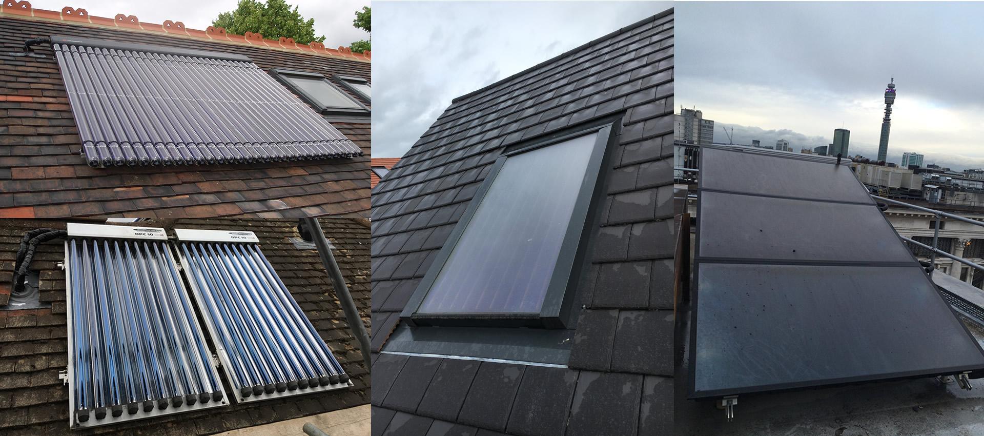 Solar Flat Panels and Solar Tubes